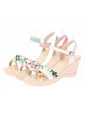Floral Summer  Wedge Kasut Lawa Shoes High Platform (#598)