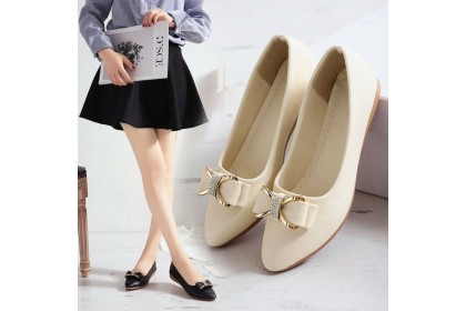 Women Rhinestone Pointed Flats Fashion Shallow Mount Single Shoes Work Shoes for Ladies